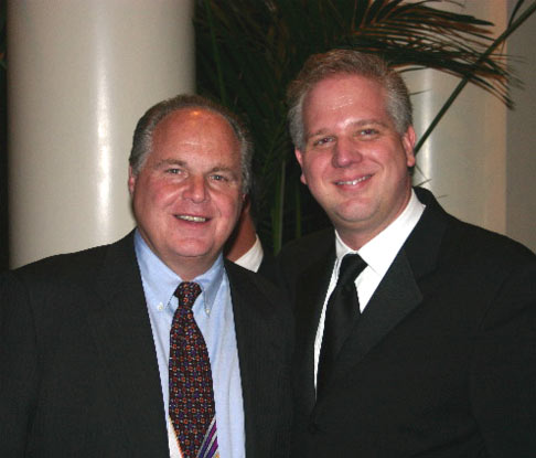 glenn beck crazy. Rush Limbaugh, Glenn Beck